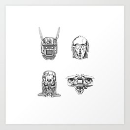 Robots Illustration Art Print