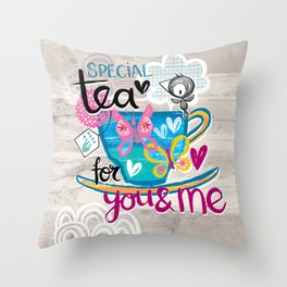 Special Tea Throw Pillow