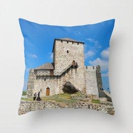 Vrsac town fortress Throw Pillow