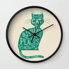 'The Cat That Walked by Himself' Wall Clock