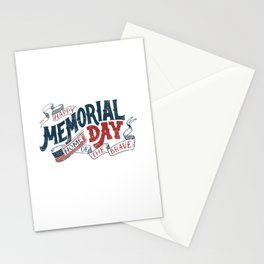 Happy Memorial Day Home Of The Brave T-Shirt T-Shirt Stationery Cards