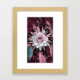 Eye of the Cereus Flower Framed Art Print
