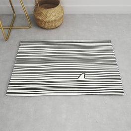 Minimal Line Drawing Simple Unique Shark Fin Gift Rug