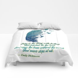 Hope Is Feathers (Emily Dickinson) Comforters