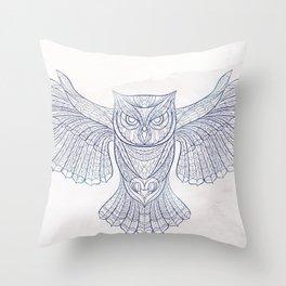 Ethnic Owl Throw Pillow