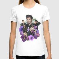 zayn malik T-shirts featuring Zayn Malik + Flowers 2 by Ladsandstuff