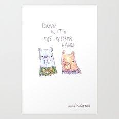 Backhand Bears Art Print