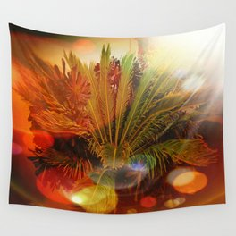Tropical plants and flowers Wall Tapestry