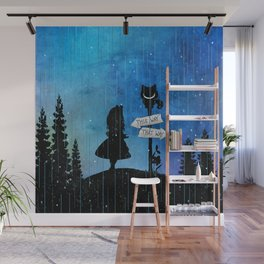 Any Road Will Get You There - Alice In Wonderland Wall Mural