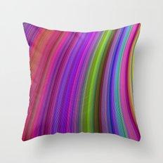 Happy spring stripes Throw Pillow