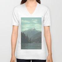 diablo V-neck T-shirts featuring Diablo Lake by jordanwlee.com