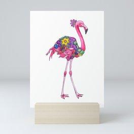 Fancy Felicity Flamingo Mini Art Print