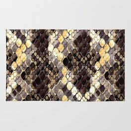 The pattern of snake skin. Rug