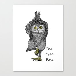 the tree pose Canvas Print