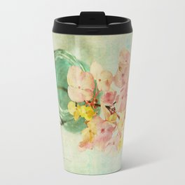 French Vintage Hydrangea Travel Mug