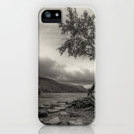 The Lonely Tree Snowdonia Wales Journey of Mountains iPhone Case