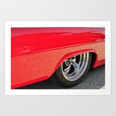 Red and Chrome Art Print