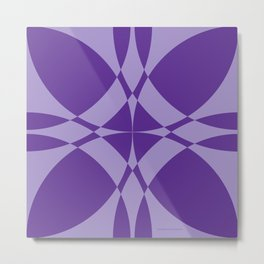 Abstract Circles - Violet Metal Print