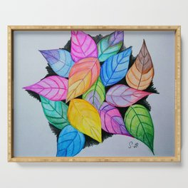 Colourful pile of leaves Serving Tray