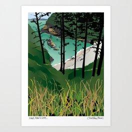 Dead Man's Cove, Washington State Art Print