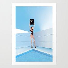 Boxing advertiser model Art Print