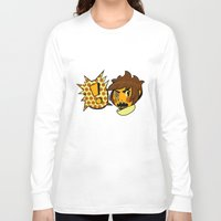 sticker Long Sleeve T-shirts featuring Chip sticker by marvelousghost