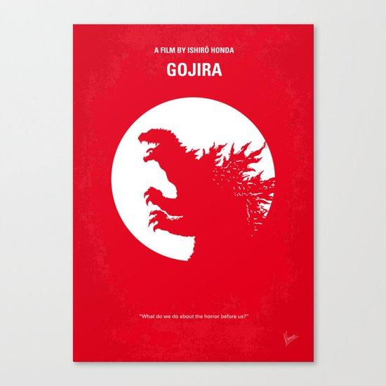 No029-1 My Godzilla 1954 minimal movie poster Canvas Print