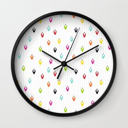 Multicolored Lights on Snow Wall Clock