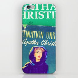 Destination Unknown - Vintage Agatha Christie iPhone Skin