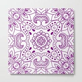 Mindful Mandala Pattern Tile MAPATI 167 Metal Print