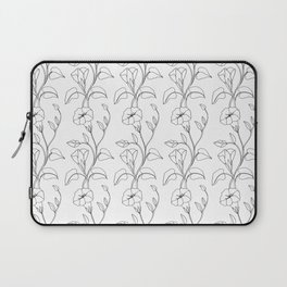 Floral Drawing in black and white Laptop Sleeve