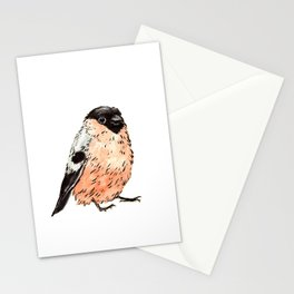 Orange and Black Bird Stationery Cards