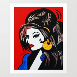 ONCE IN LOVE WITH AMY Art Print