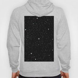 Simple psyche white stars night Hoody