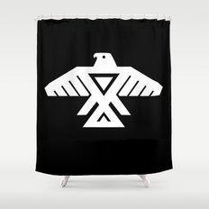 Thunderbird flag - Inverse edition version Shower Curtain