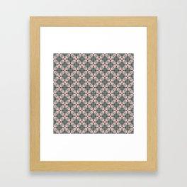 Blue & Red Geometric - Tiny Arrows Leaves Framed Art Print