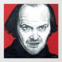 jack nicholson Canvas Prints featuring Jack Nicholson by Alyssa Szatny