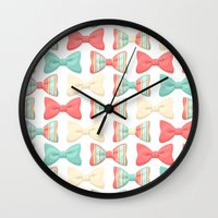 bows Wall Clocks featuring bows by melazerg
