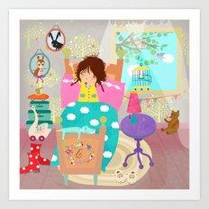 Good Morning Emma! Art Print