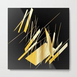 golden treasure abstract geometrical art Metal Print