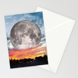 Supermoon Sunset Florida Stationery Cards