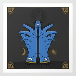 Mystic Hands Art Print