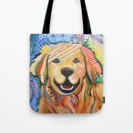 Max ... Abstract dog art, Golden Retriever, Original animal painting Tote Bag