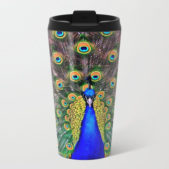 Peacock Metal Travel Mug