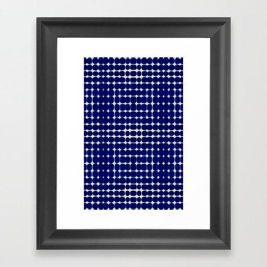 Deelder Blue Framed Art Print