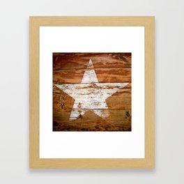 Faded Star Framed Art Print