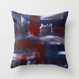 Abstract Acrylic Brush Strokes Throw Pillow