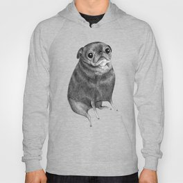 Sweet Black Pug Hoody