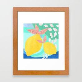 Pink Lemonade - Shapes and Layers no.32 Framed Art Print