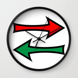 Left And Right Direction Arrows Wall Clock